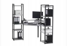 Eck-Schreibtischkombination / Computertisch Mod.MJ260 Anthazit - Platingrau