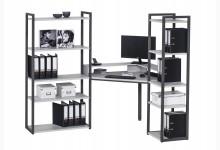Eck-Schreibtischkombination / Computertisch Mod.MJ262 Anthazit - Platingrau