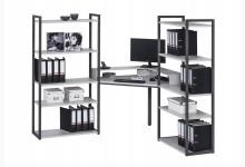 Eck-Schreibtischkombination / Computertisch Mod.MJ263 Anthazit - Platingrau
