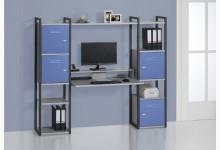 Schreibtischkombination / Computertisch Mod.MJ269 Anthazit - Platingrau