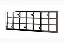 Wandgarderobe Mod.89899 Schwarz Nickel-Chrom