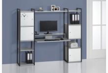 Schreibtischkombination / Computertisch Mod.MJ272 Anthazit - Platingrau