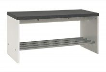 Sitzbank Mod.95530 Granitoptik-Chrom Weiß