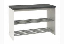 Sitzbank Mod.95531 Granitoptik-Chrom Weiß