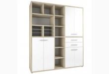 Schrank Mod.MJ306 Eiche - Weißglas
