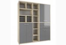 Schrank Mod.MJ307 Eiche - Grauglas
