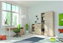 3tlg. Arbeits- & Bürozimmer Mod.MJ329 Eiche