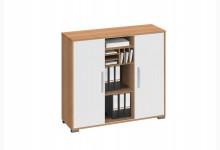 Sideboard Mod.MJ453 Buche - Weiß Hochglanz