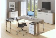 6tlg. Arbeits- & Bürozimmer Mod.MJ482 Sandglas - Weißglas