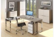 5tlg. Arbeits- & Bürozimmer Mod.MJ483 Sandglas - Weißglas