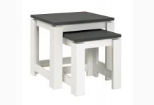 2-Satz Tisch Mod.42578 Granitoptik-Weiß