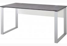 Schreibtisch Mod.GM885 Weiß/Basalto-Dunkel