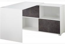 Schreibtisch Mod.GM889 Weiß / Basalto-Dunkel