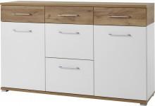Sideboard Mod.GM898 Weiß/Navarra-Eiche