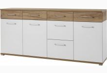 Sideboard Mod.GM899 Weiß/Navarra-Eiche