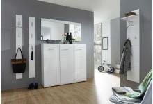5-tlg. Garderobenset Mod.GM924 Weiß Hochglanz