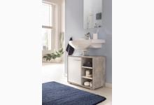Waschtischunterschrank Mod.W139 Beton/Weiß