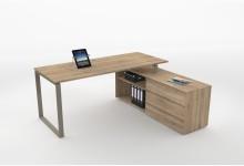 Eck-Schreibtisch Mod.MJ507 Riviera Eiche
