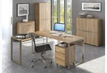 5tlg. Arbeits- & Bürozimmer Mod.MJ508 Riviera Eiche