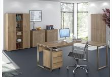 6tlg. Arbeits- & Bürozimmer Mod.MJ509 Riviera Eiche