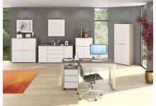 6tlg. Arbeits- & Bürozimmer Mod.MJ511 Sandglas - Weißglas