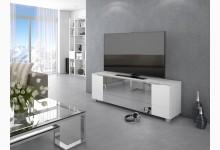 TV Lowboard Mod.MJ544 Weißglas - Infrarotspiegel Grau
