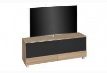 TV Soundboard mit integriertem Soundsystem & TV-Halterung Mod.MJ555 Sonoma Eiche - Schwarz