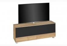 TV Soundboard mit integriertem Soundsystem & TV-Halterung Mod.MJ557 Riviera Eiche - Schwarz