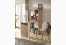 MINIOFFICE - Büroregal mit integriertem Schreibtisch Mod.MJ575 Sonoma Eiche - Weiß