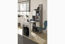 MINIOFFICE - Büroregal mit integriertem Schreibtisch Mod.MJ576 Steingrau - Weiß