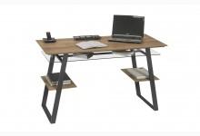 Schreibtisch Mod.MJ588 Metall Anthrazit - Riviera Eiche