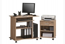 Computertisch-Rollcontainer SET Mod.MJ606 Sonoma Eiche