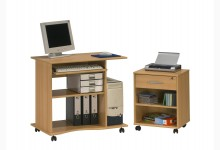 Computertisch-Rollcontainer SET Mod.MJ607 Buche