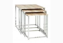 3-Satz-Tisch / Beistelltische Mod. 33983 San Remo Eiche