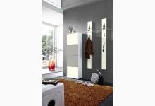 3tlg. Garderobenprogramm / Garderobenset Mod.GM1206 Vanille - Sandgrau