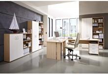 Büro- & Arbeitszimmer 10-teilig Mod.GM157 Kernesche - Weiss