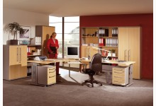 Büro- & Arbeitszimmer 11-teilig Mod.GM193 Ahorn - Silber