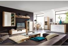 8tlg. Wohnzimmerset Mod.GM561 Sonoma Eiche - Weiss Hochglanz