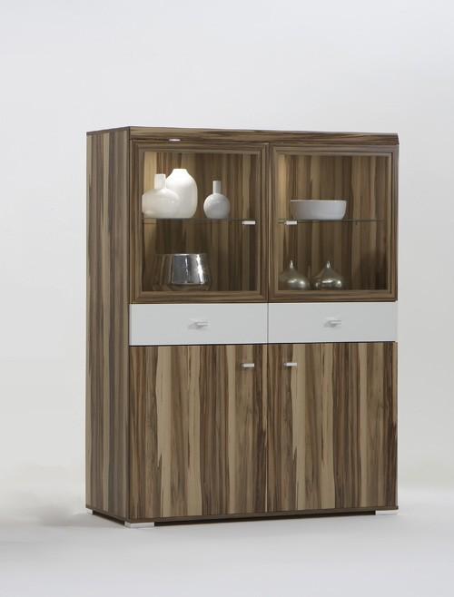 vitrine vitrinenschrank highboard schrank baltimore weiss h c m bel. Black Bedroom Furniture Sets. Home Design Ideas