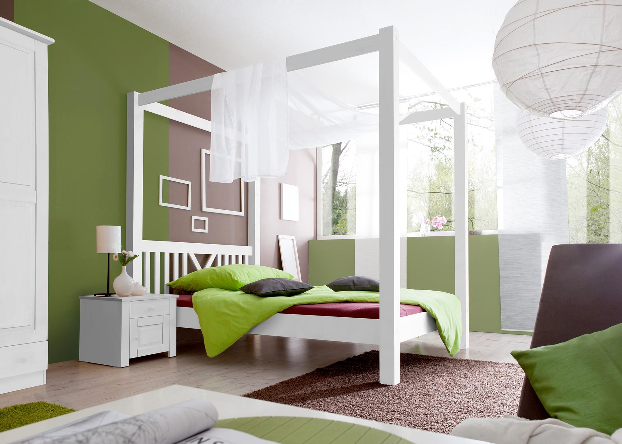 himmelbett kiefer weiss h c m bel. Black Bedroom Furniture Sets. Home Design Ideas