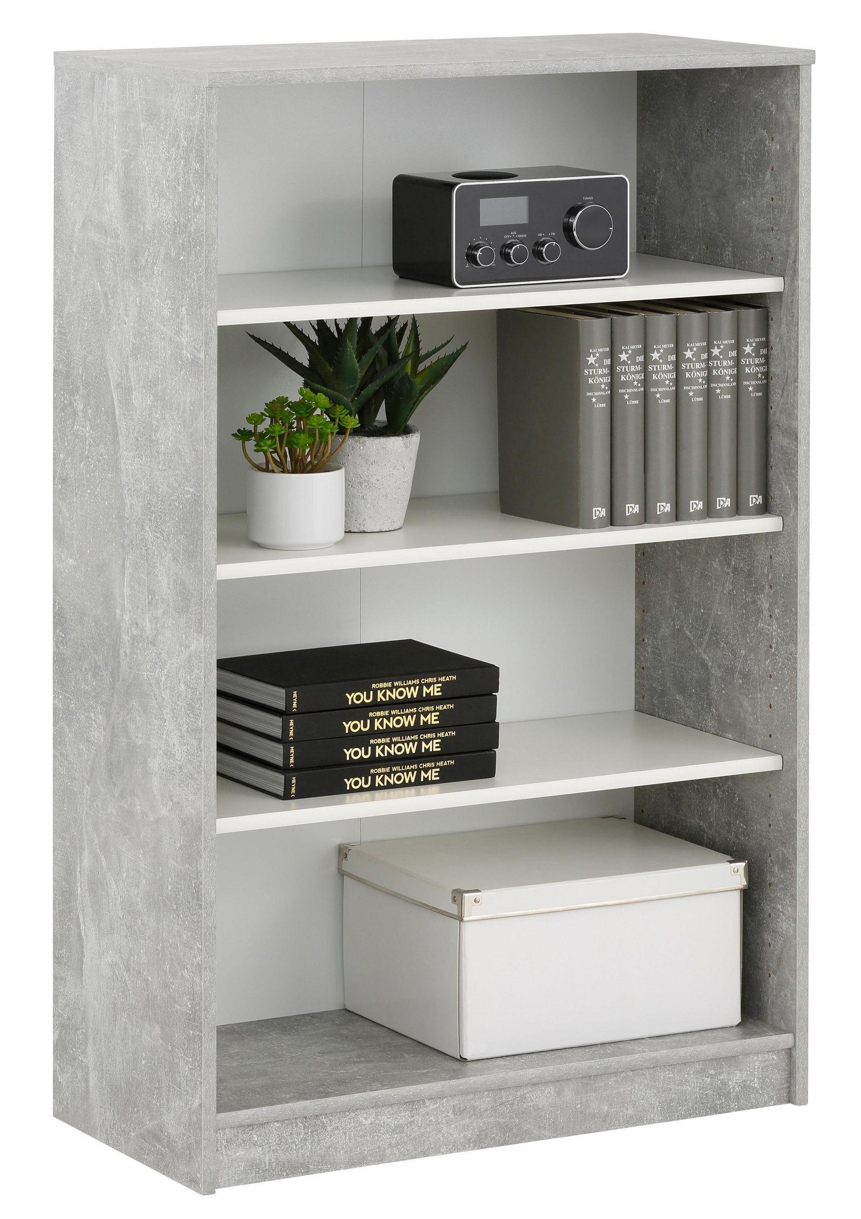 H C Möbel : regal mj629 betonoptik weiss h c m bel ~ Watch28wear.com Haus und Dekorationen