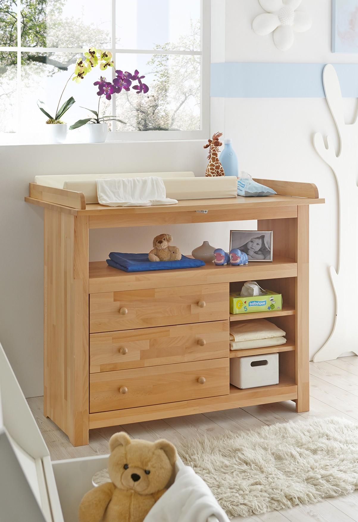 Babyzimmer set buche  4tlg. Babyzimmer Mod.888549 Buche massiv - H&C Möbel