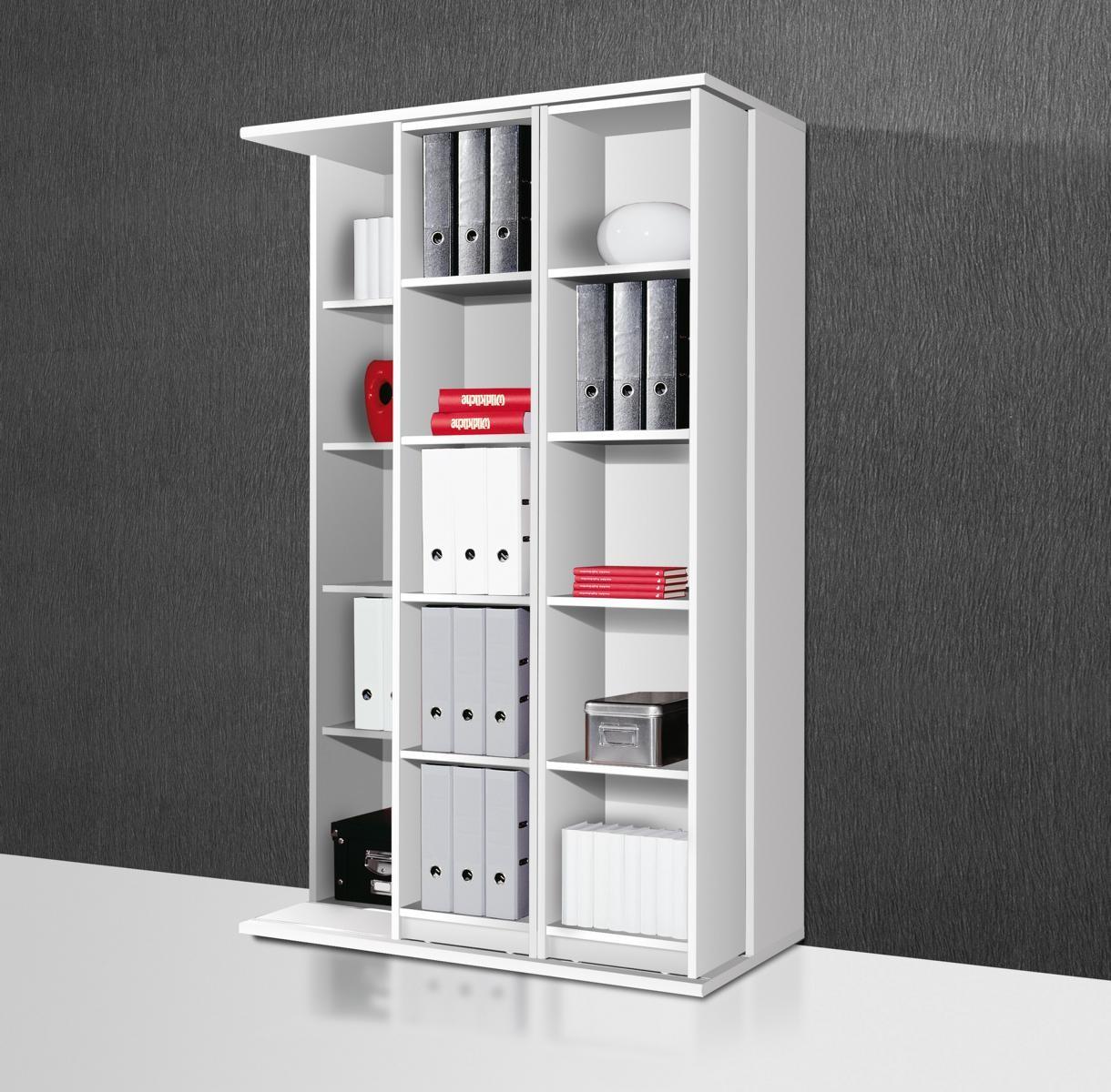 schieberegal aktenregal wei r543 h c m bel. Black Bedroom Furniture Sets. Home Design Ideas