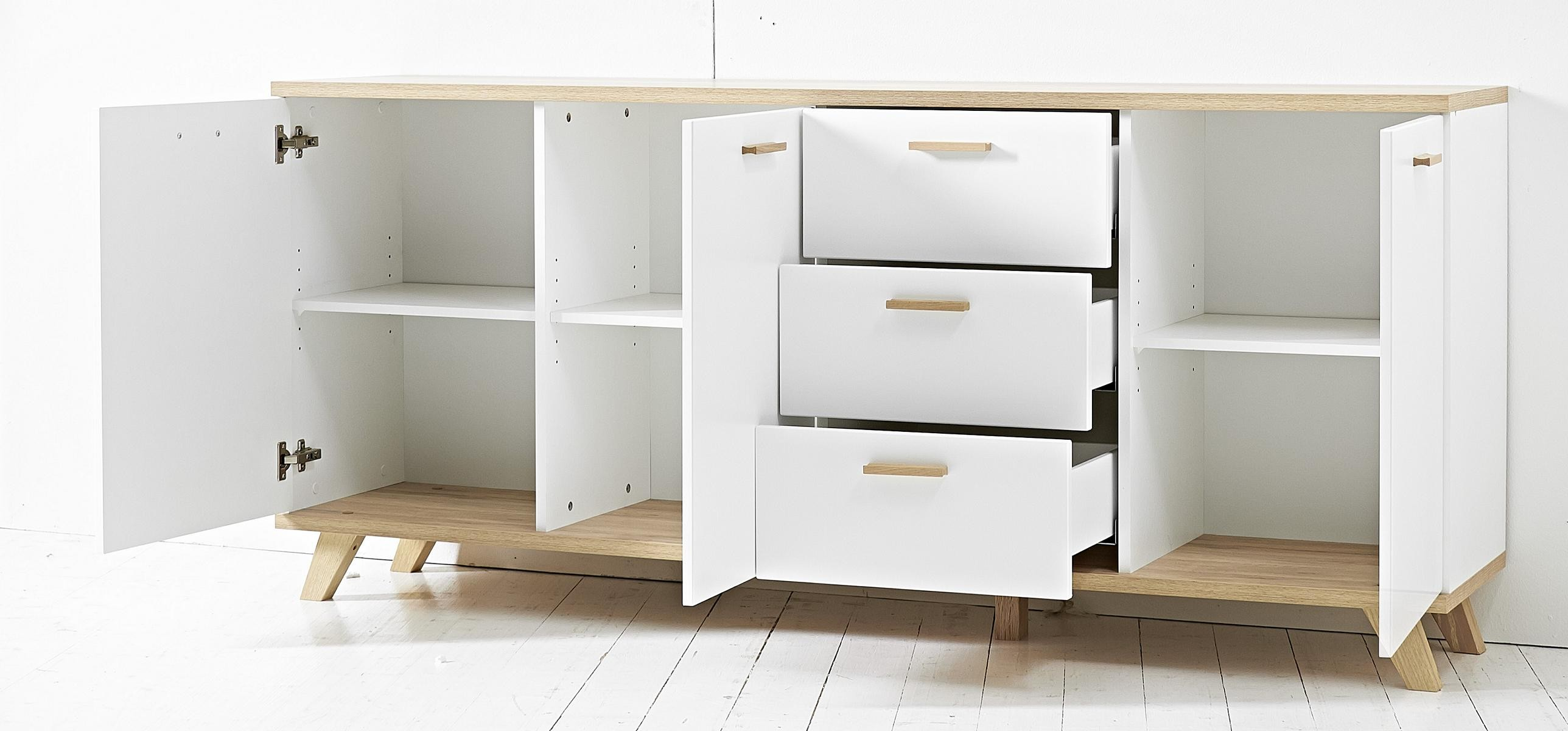 Sideboard Kommode Mod Gm639 Canyon Eiche Weiss H C Mobel
