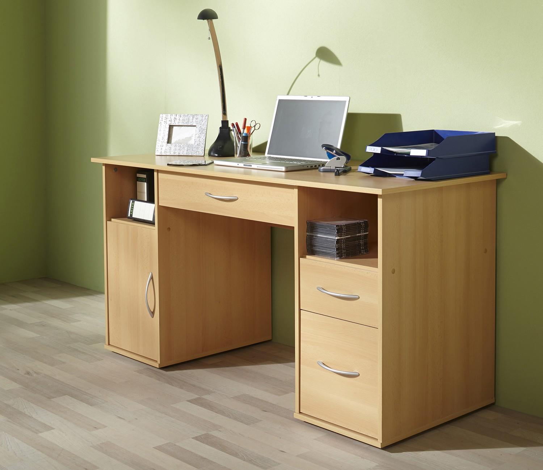 Schreibtisch mod w033 b buche h c m bel for Buche schreibtisch