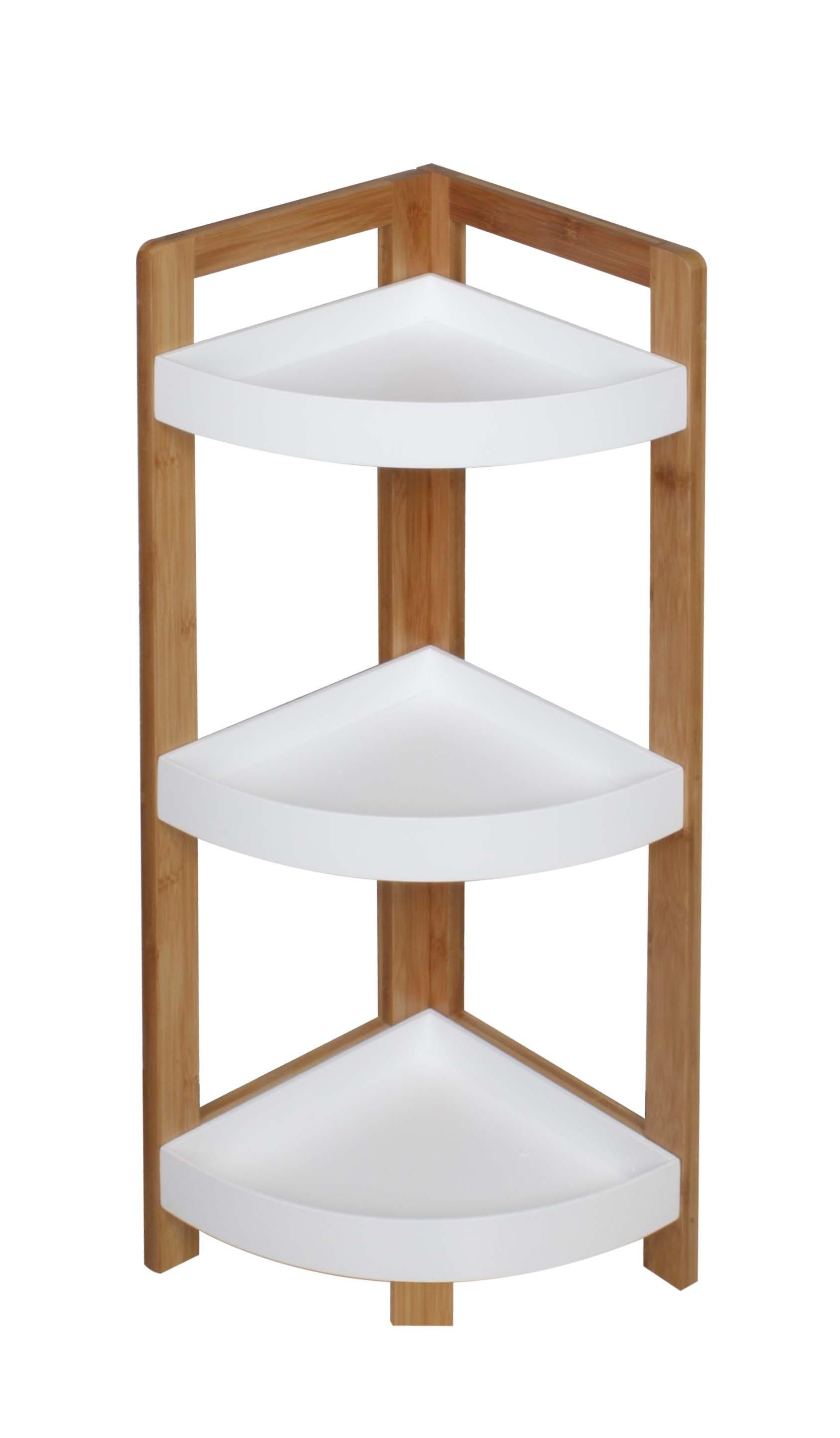 bad eckregal r507 2 bambus weiss h c m bel. Black Bedroom Furniture Sets. Home Design Ideas