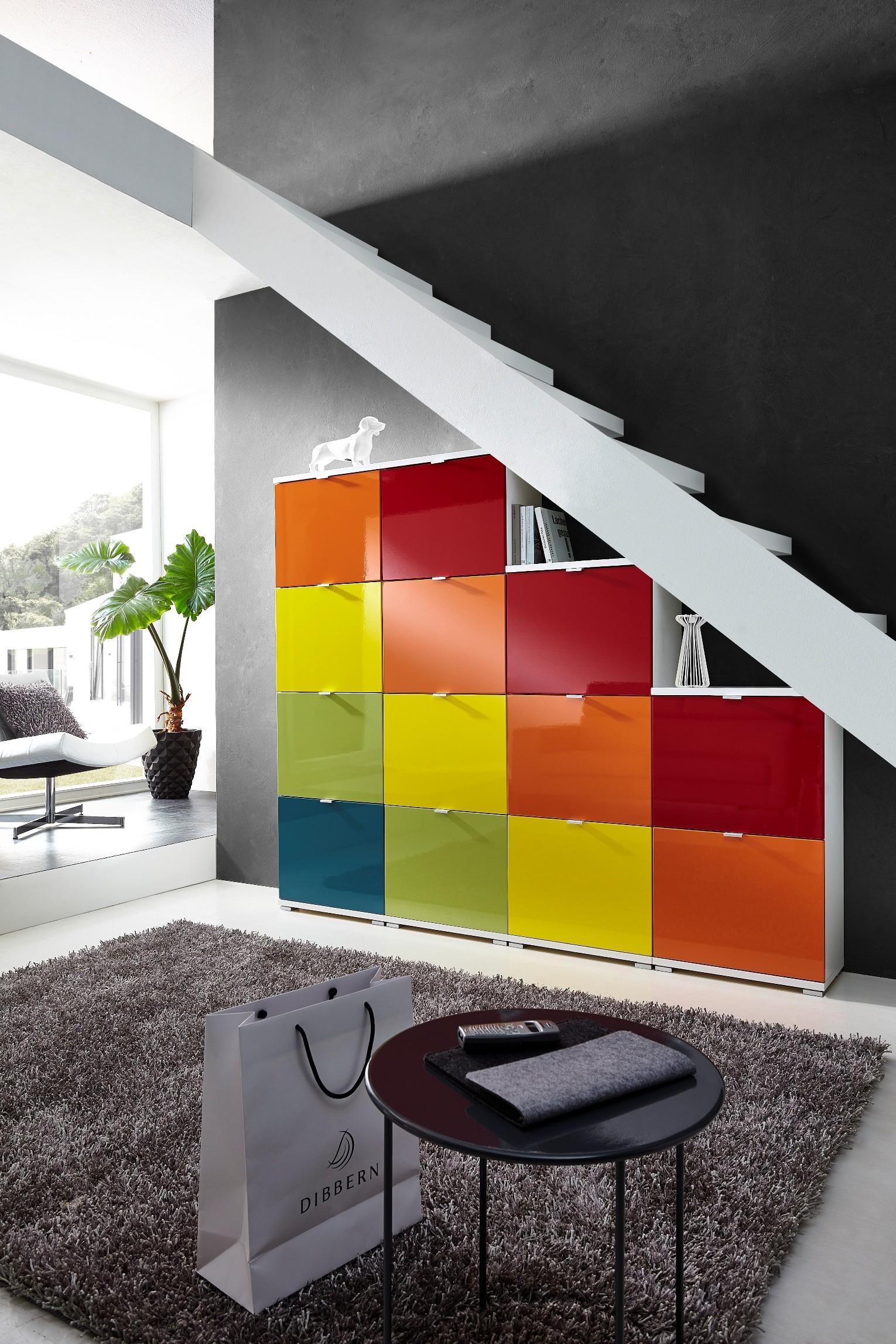 4tlg schuhschranksystem mod gm588 farbig h c m bel for Schuhschrank farbig
