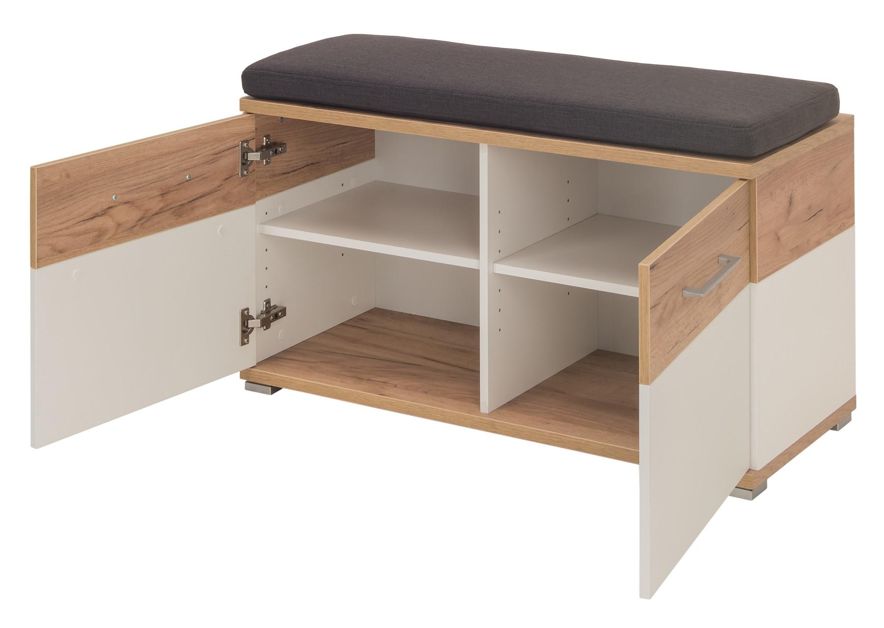 schuhbank wildeiche cool schuhbank rioja in wildeiche bianco mit klappe with schuhbank. Black Bedroom Furniture Sets. Home Design Ideas