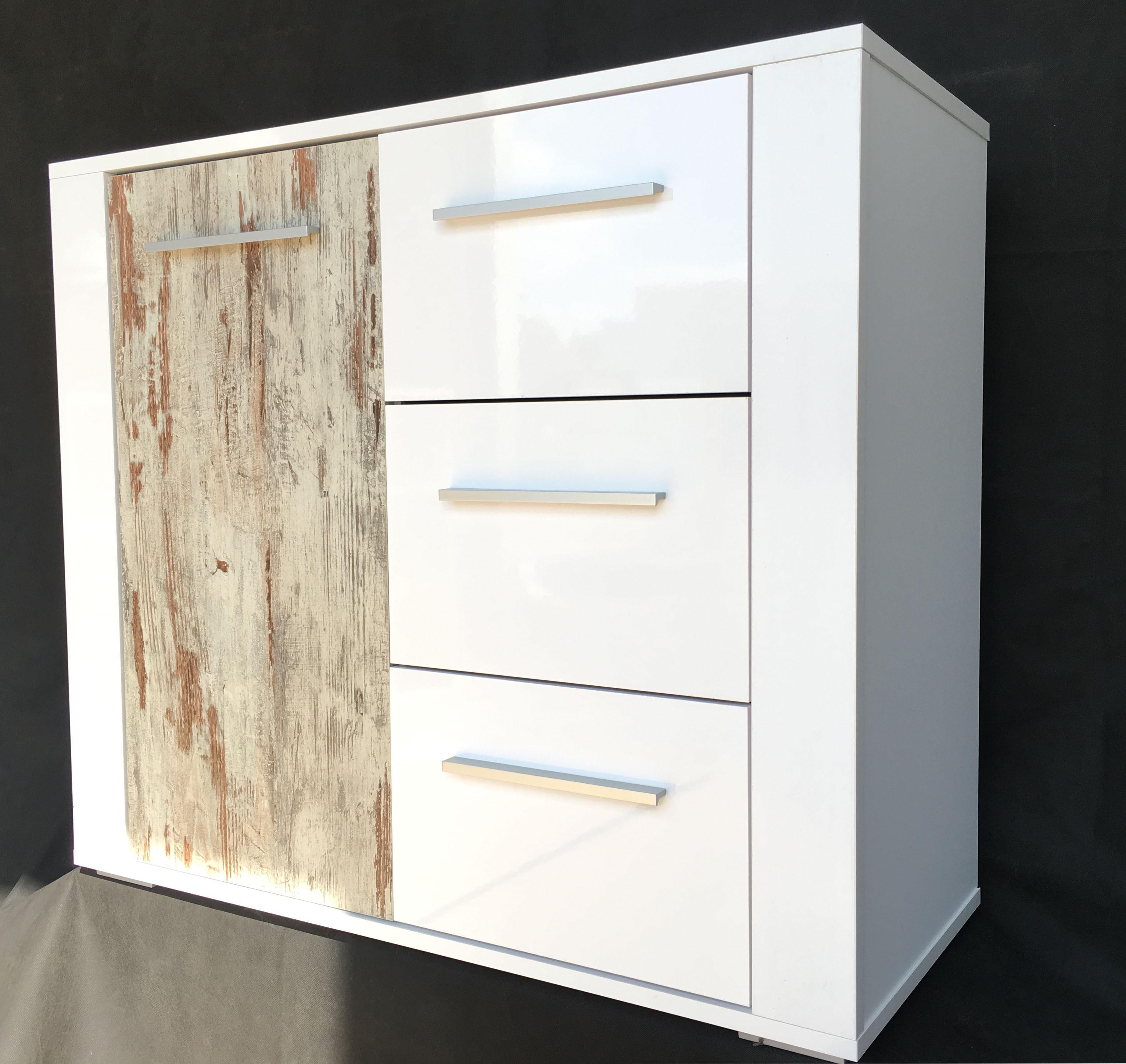 kommode mod k505 weiss hochglanz retro design h c m bel. Black Bedroom Furniture Sets. Home Design Ideas
