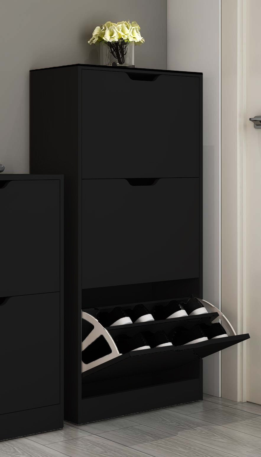 schuhschrank schuhkipper 3 kipper schuhregal schuhablage. Black Bedroom Furniture Sets. Home Design Ideas